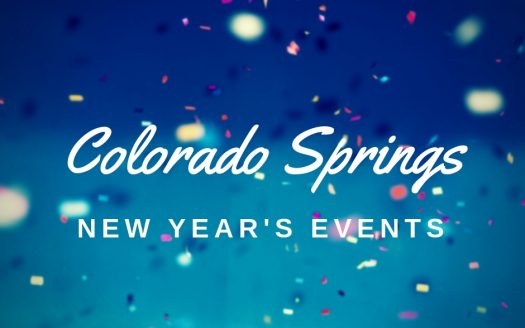 Image of confetti with Colorado Springs New Year's Events