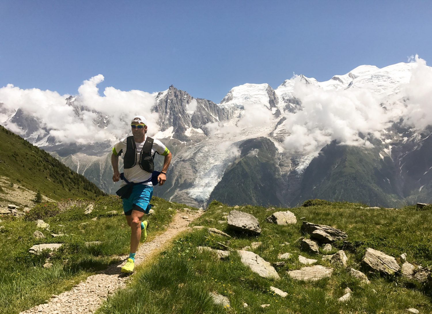 Picture of male runner in the mountains