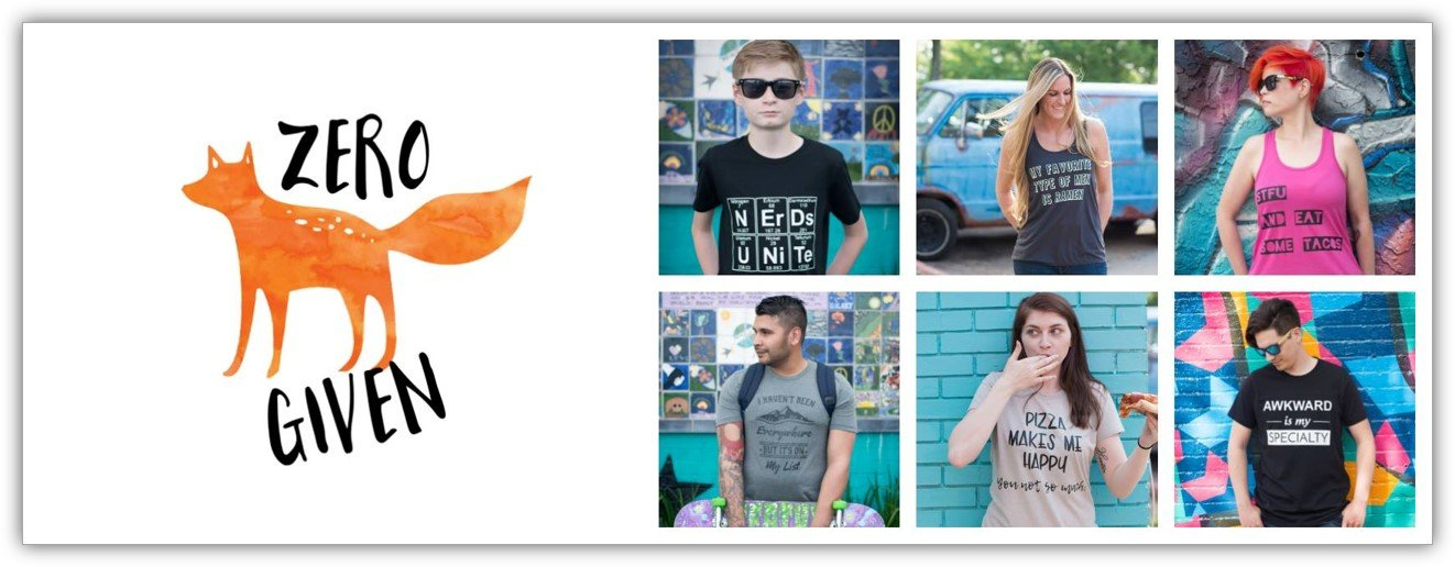 picture of zero fox given tshirt designs