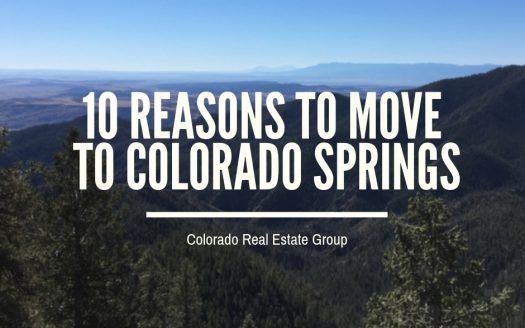 Ppicture of mountains with the caption 10 Reasons to Move to Colorado Springs
