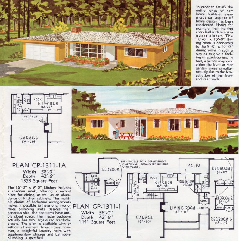 mid century typical mid level income house