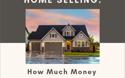 Picture of home with sunset and captioned with Home Selling: How much money will I make?