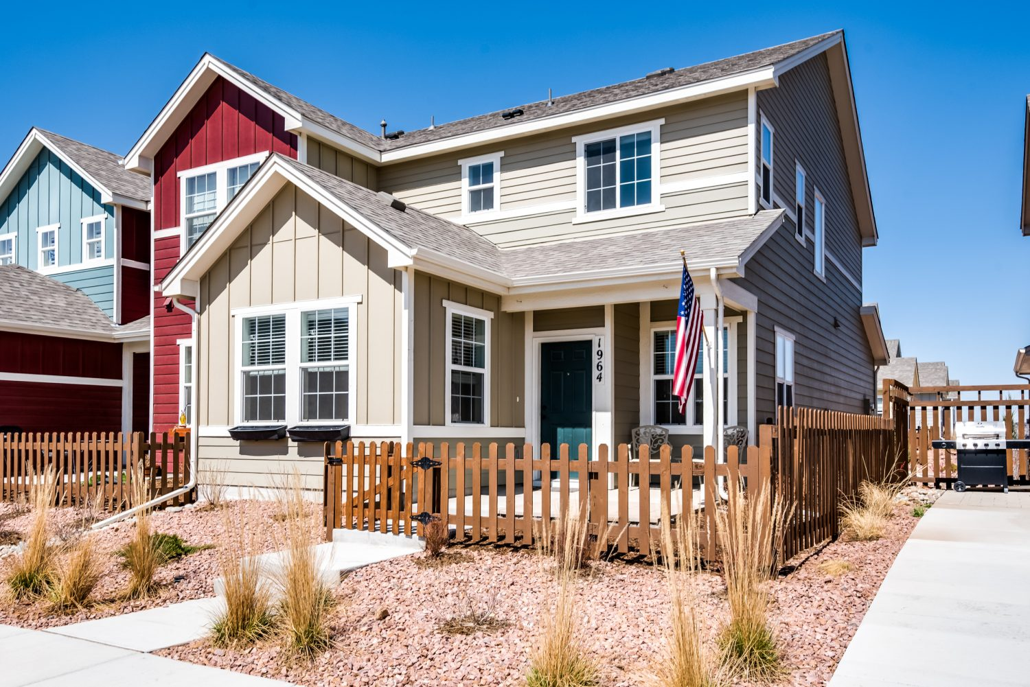 Colorado Springs House with Xeriscaping
