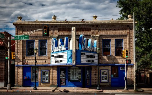 Bluebird Theater Building in Denver on Colfax Ave