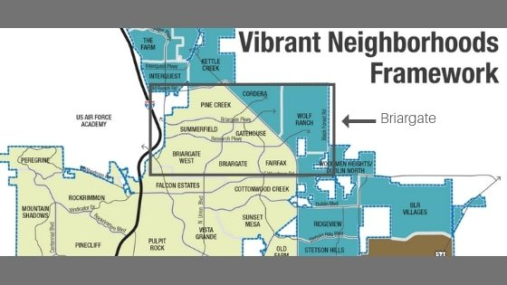 graphic of neighborhoods in Colorado Springs