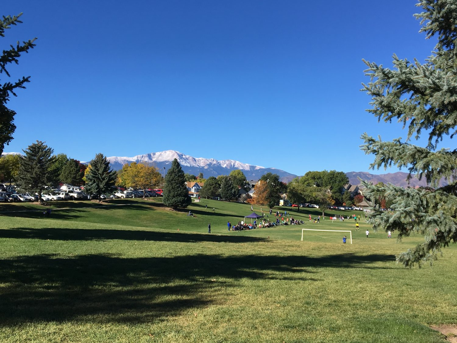 picture of Pikes Peak from Cottonwood Creek Park in Colorado Springs