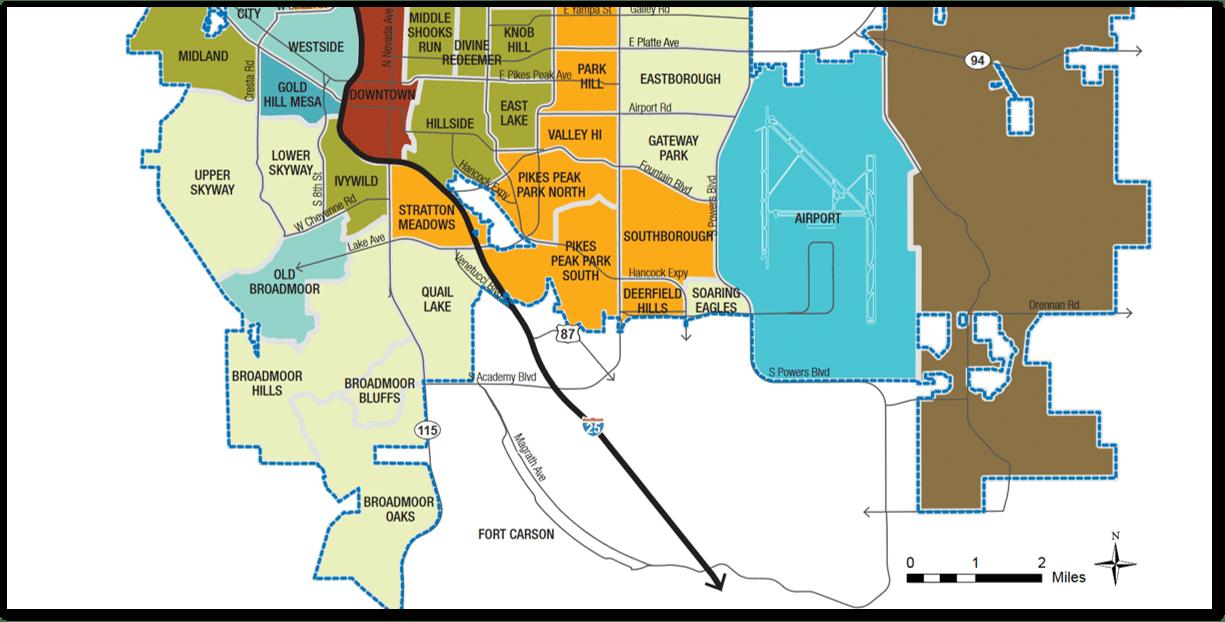 map of colorado springs neighborhoods