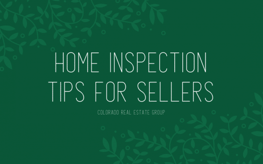 Green graphic with caption for home inspection tips for sellers