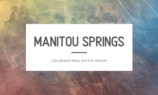 Manitou Springs Colorado Real Estate Group text overlaid over watercolor