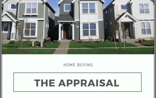 Picture of homes with text Home Buying The Appraisal underneath it