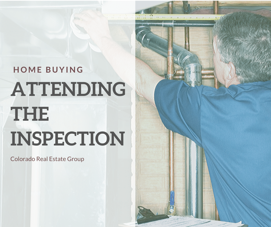 attending a home inspection picture of man measuring pipes