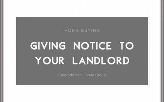 Text: Home Buying Giving Notice to your landlord