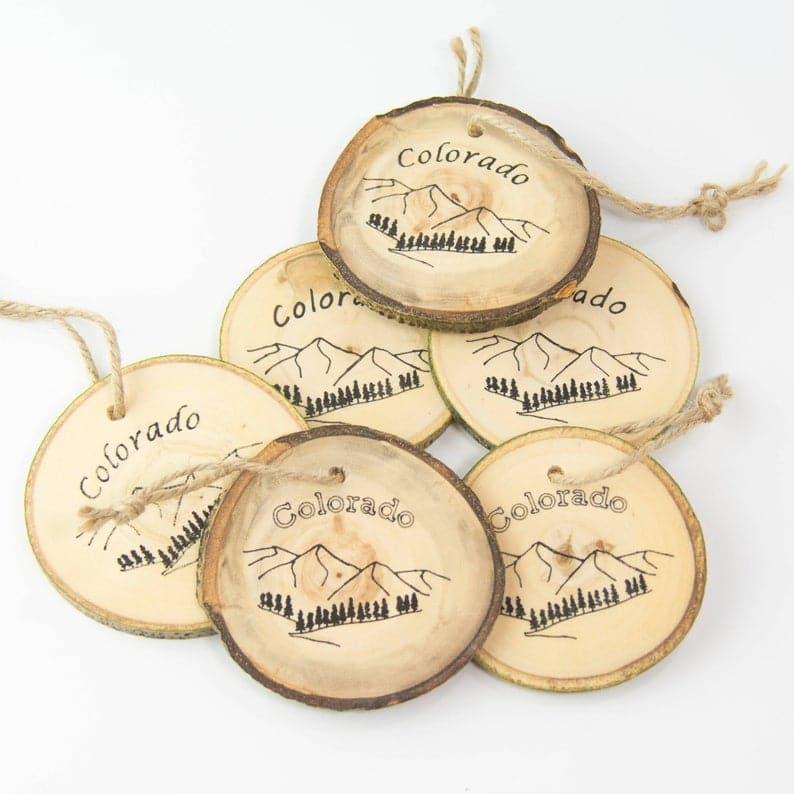 picture of Colorado aspen Christmas ornaments