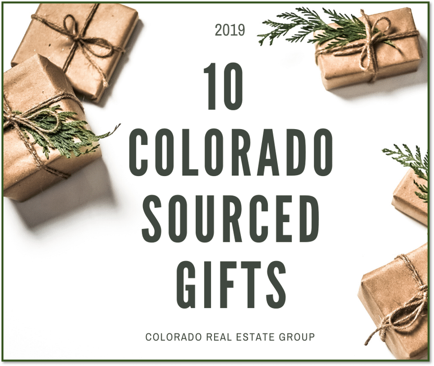 picture of wrapped presents and 10 Colorado Sourced Gifts caption