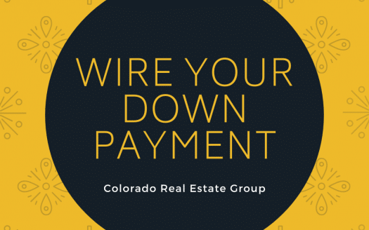 "graphic with ""wire your down payment"" caption"