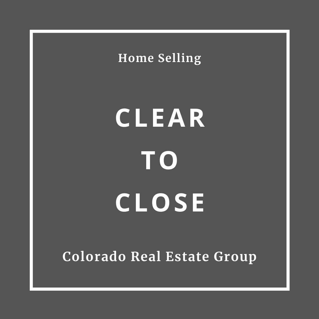 Home selling clear to close