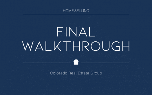 home selling final walk through
