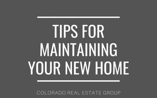 "graphic with ""tips for maintaining your new home"" caption"