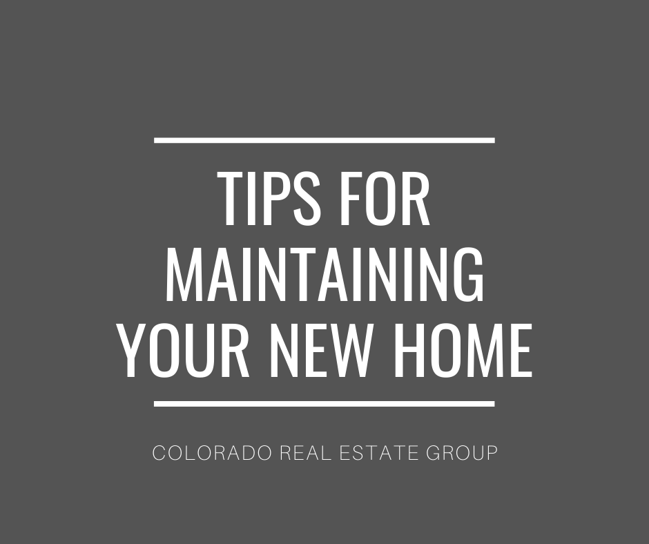 """graphic with """"tips for maintaining your new home"""" caption"""