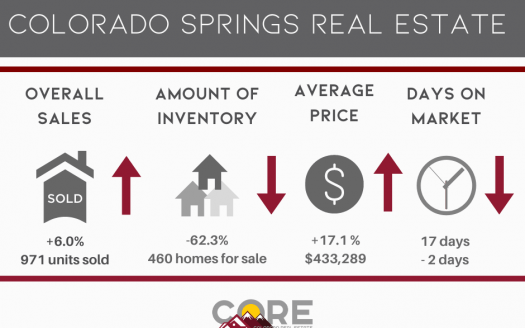 graphic of January 2021 real estate stats in Colorado Springs