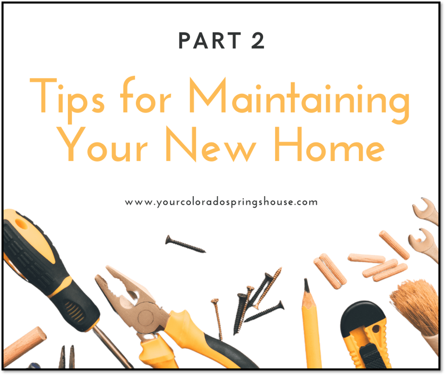 image of tools with Tips for Maintaining Your New Home Part 2 caption