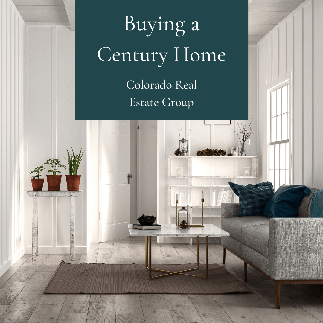 """picture of a living room with """"Buying a Century Home"""" caption"""