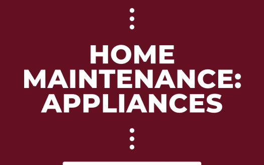 "Graphic with ""Home Maintenance: Appliances"" caption"