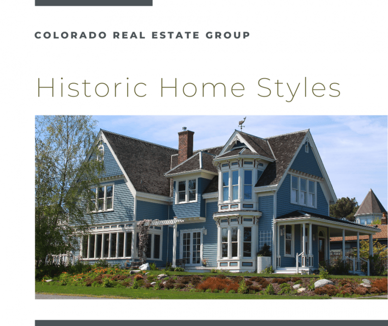 """image of historic home with """"Historic Homes Styles"""" caption"""