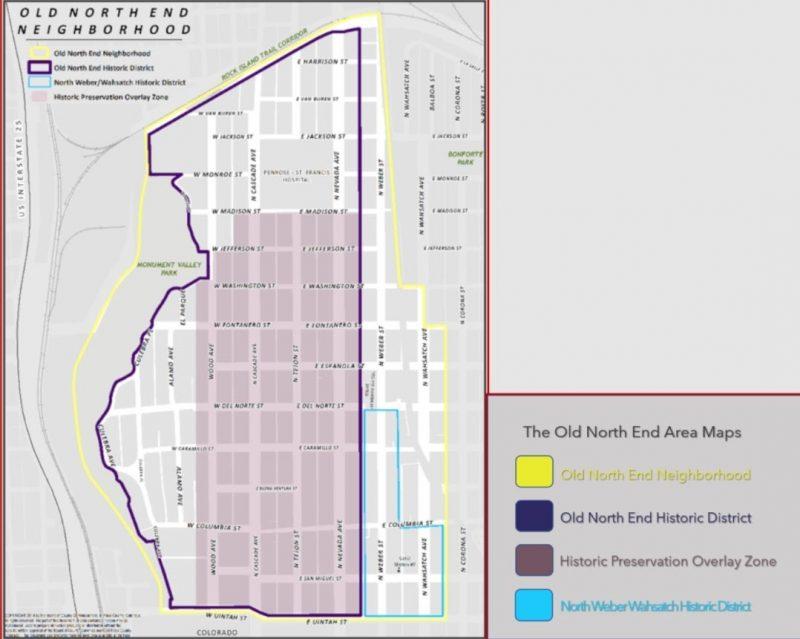 graphic image of Old North End in Colorado Springs, Colorado